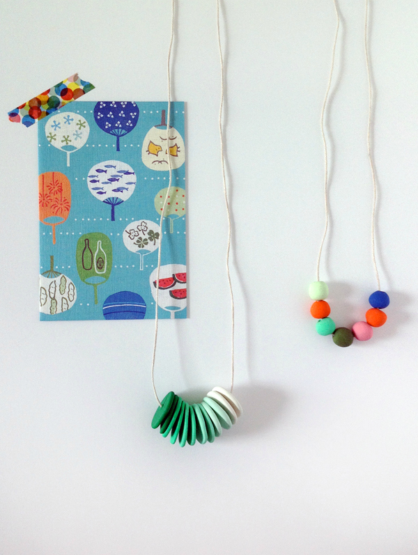 Polymer Clay Bead Necklaces Tutorial