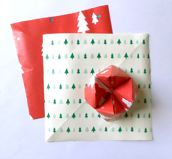 Five great ways to re use christmas cards and wrap for Christmas craft wrapping paper