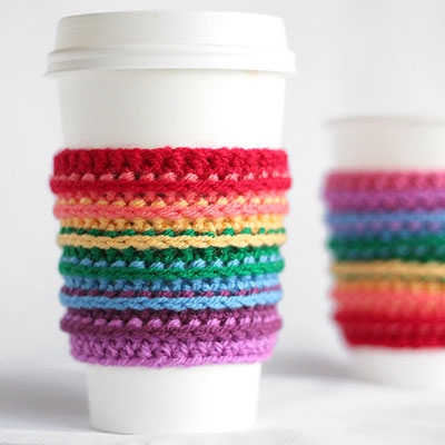 Preview for How to Crochet a Rainbow Cup Cozy