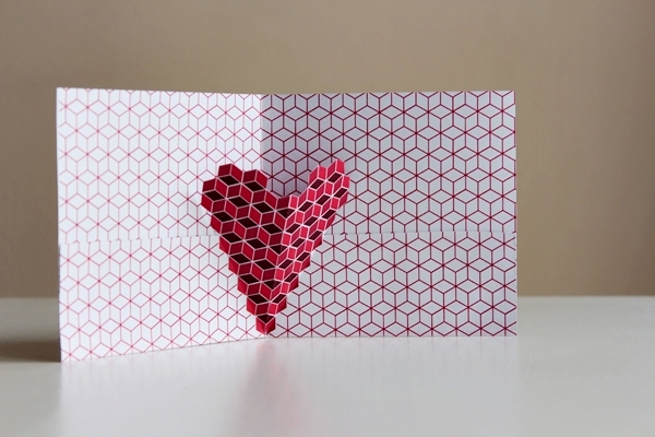 How to make 3 different valentine 39 s day cards with geo hearts - Bricolage st valentin pinterest ...