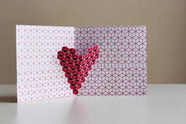 Des coeurs g om triques pour la st valentin sakarton - Pinterest bricolage st valentin ...