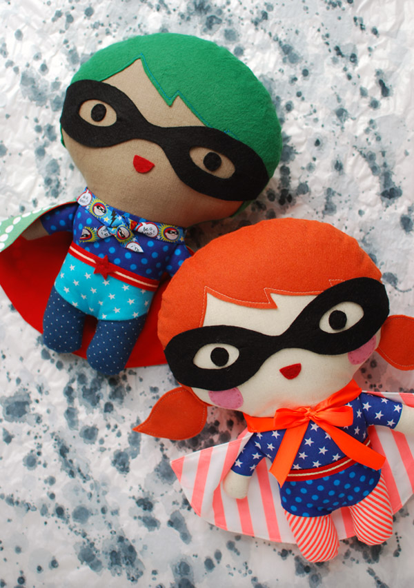 Boy and Girl Superhero doll sewing tutorial.