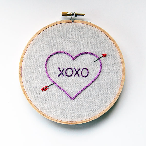 how to embroider a sweet valentine s sampler
