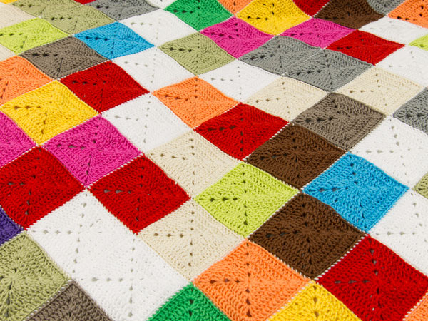 Crochet Patterns Lap Blankets : How to Crochet a Lap Rug in Kaleidosopic Colour