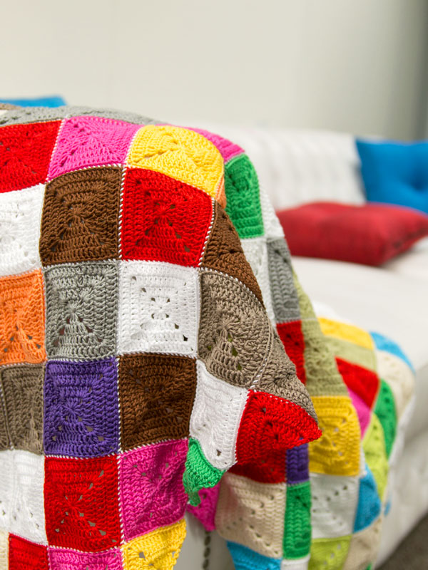 Crochet Patterns For Lap Blanket : How to Crochet a Lap Rug in Kaleidosopic Colour - Tuts+ ...