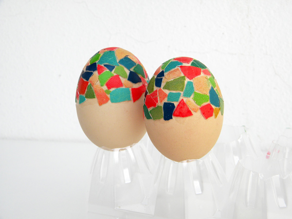 How To Make Mosaic Shell Easter Eggs