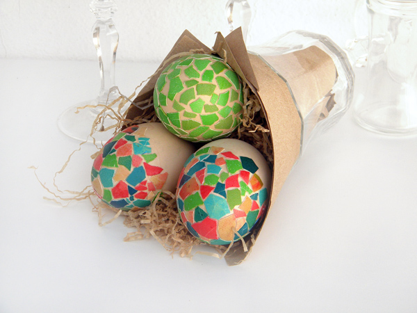 How to make mosaic shell easter eggs they also make fantastic gifts as alternatives to chocolate eggs negle Gallery