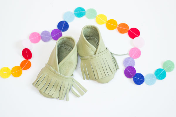 Baby Moccasins tutorial