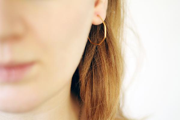 heptagon earring