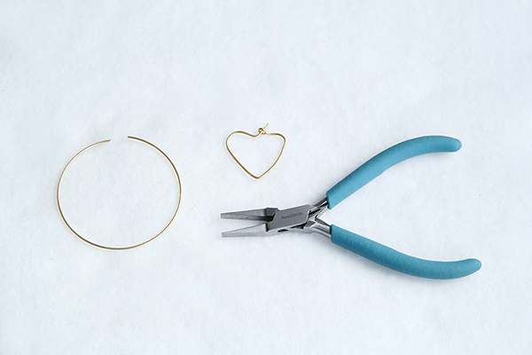 hoop earring heart materials