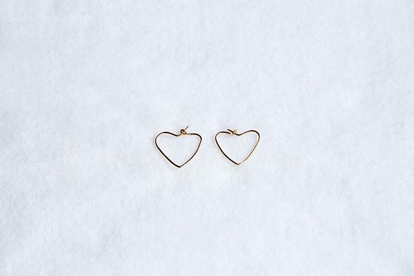 hoop earring hearts