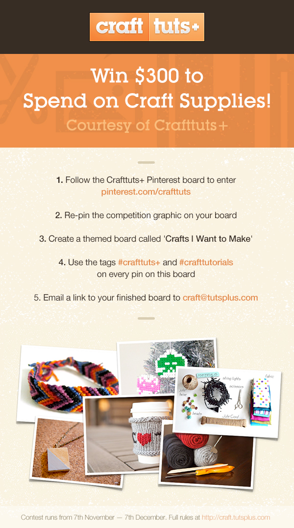 Crafttuts+ Pinterest Competition