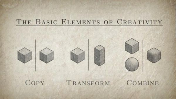 The alchemy of creativity (Image taken from Everything is a Remix Part 3)