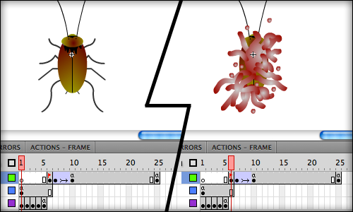 Cockroach animation keyframes