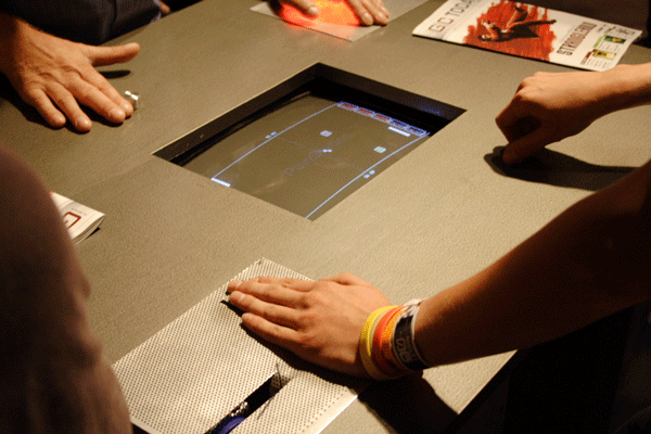 The PainStation, with hands-on controller and pain dispenser.