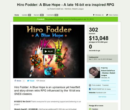 The Hiro Fodder Kickstarter Campaign