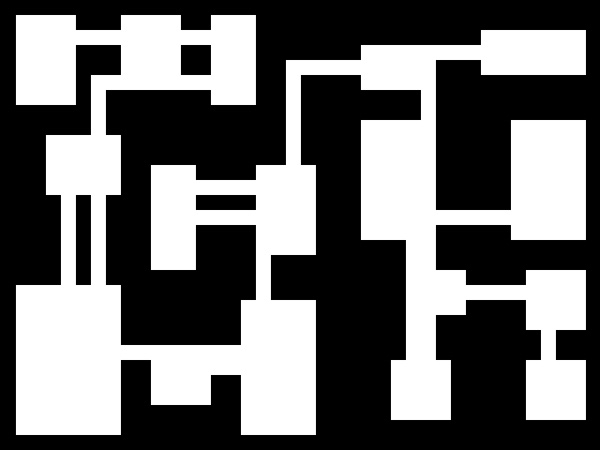 Sample of Leafs filled with random rooms connected via hallways