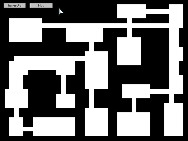 Screenshot from Demo program - Generating the Random Map