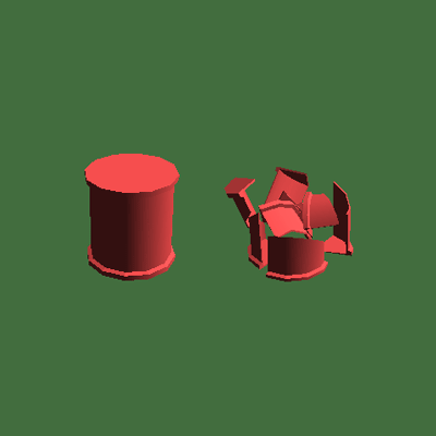 Preview for How to Make an Object Shatter Into Smaller Fragments in Unity
