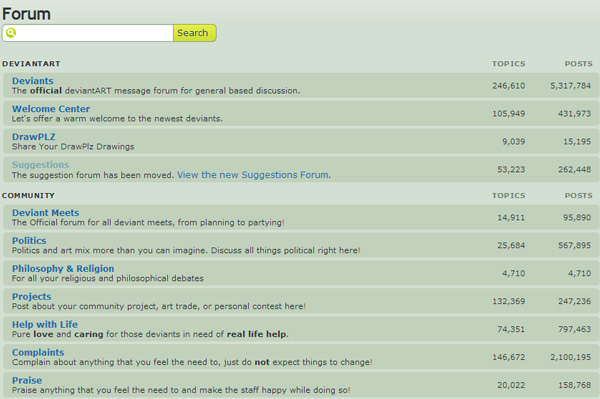 DeviantART forums: A great place to find your next artist. Beware excessive use of anime.