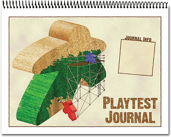 The Playtest Journal is a notebook thats specifically designed to help you keep track of information while testing a game Even if you dont want something like this you should still keep a journal by your side to take notes
