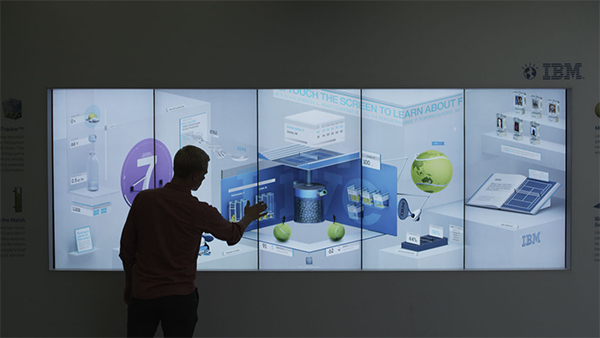 An image displaying the U.S. Open IBM Data Wall