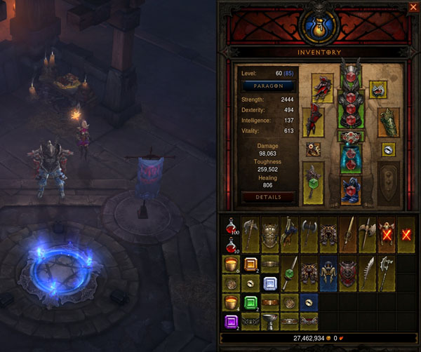 Diablo 3: Waypoints allow players to sell their crappy loot whenever they please.