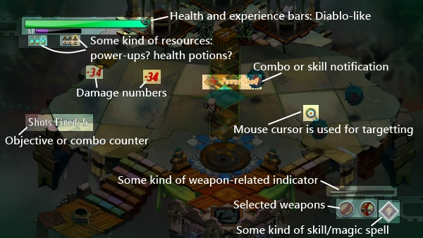 One can guess a lot about the gameplay from the Bastion's HUD screenshot.