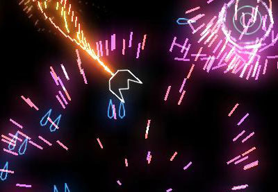 Geometry wars ios particle effects