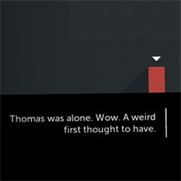 How thomas was alone uses narration to build a world