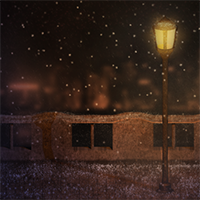 Snowy scene particle effects