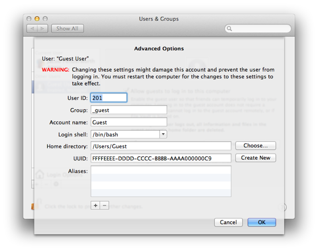 The secret advanced user options.