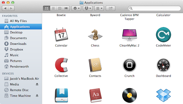 My Applications folder.