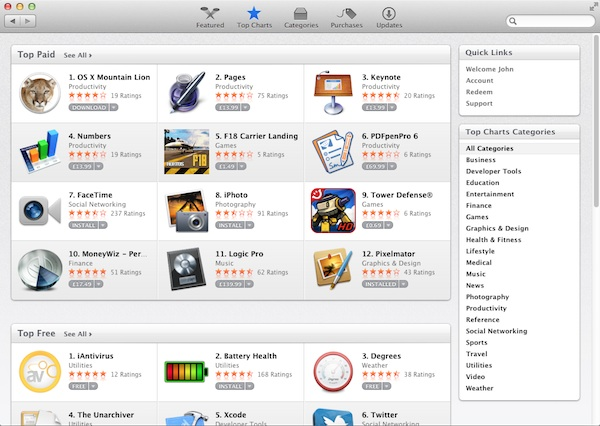 Using your Apple ID with the Mac App Store opens the doors to a wealth of software.