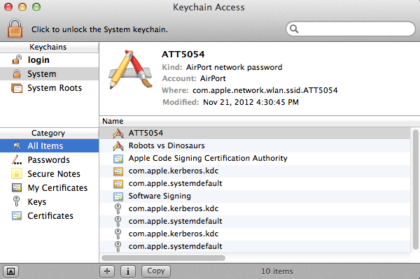 The Keychain window layout is relatively straightforward. 93f018f86e08