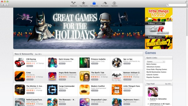 Games is a small but quickly-growing category that's rejuvenating gaming on the Mac