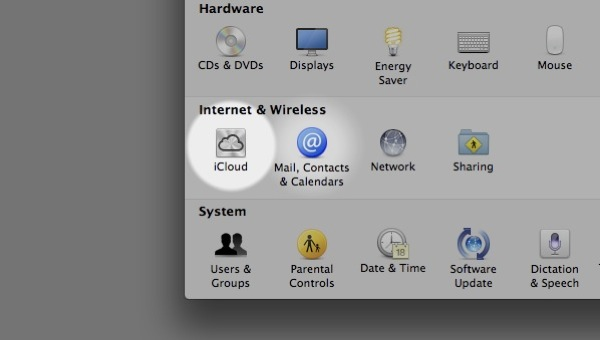 iCloud can be enabled (and an account set up) within System Preferences
