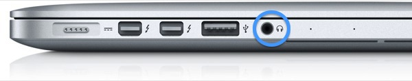 Some Macs have a single audio port