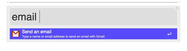 Alfreds email Keyword