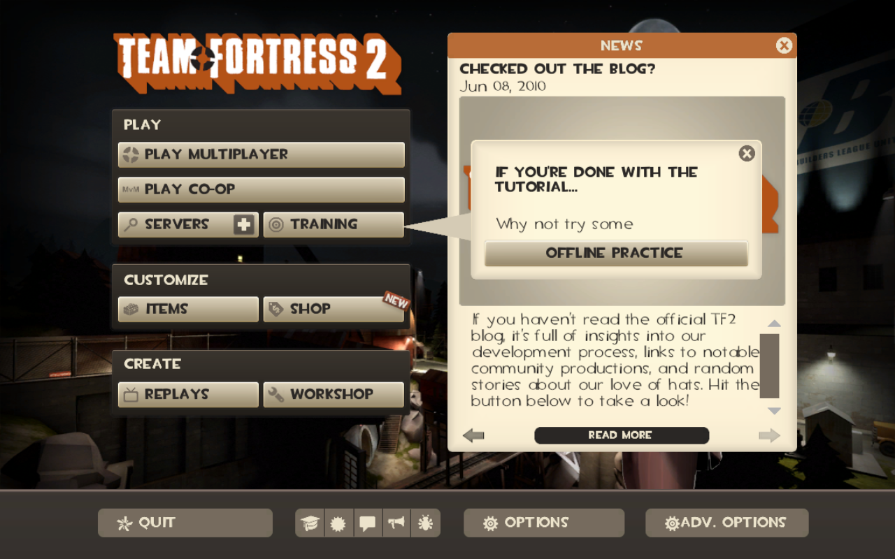 In-game screen