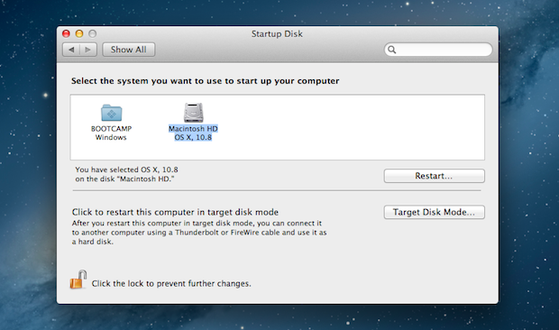 how to change startup on mac