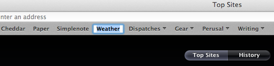 Just click and hold to rename something in Safari.