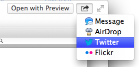 Mountain Lion makes it very easy to share things.