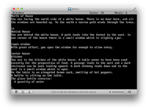 This is one of my favorites; can you find your way through the puzzling world of Zork?