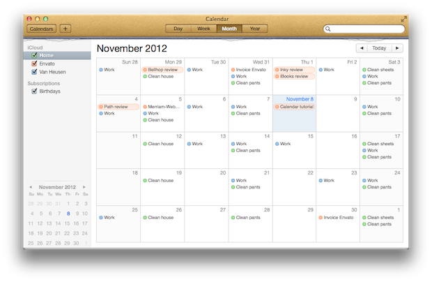 Adding a new calendar is easy.