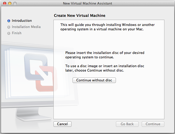 New Virtual Machine Assistant