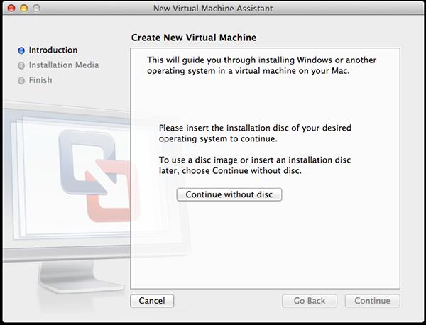 New Virtual Machine Assistant