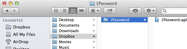 1Password Encrypted Database Synced With Dropbox