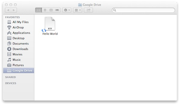The Google Drive folder is where you'd keep any files you want to keep in sync.
