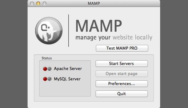 MAMP Control Panel